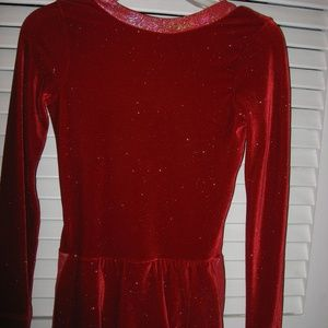 Sparkle Red  Figure Skating Competition Dress